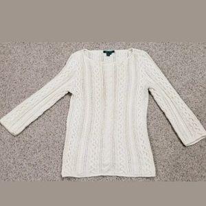 LAUREN Ralph Lauren Sweater Cable Knit Sz M